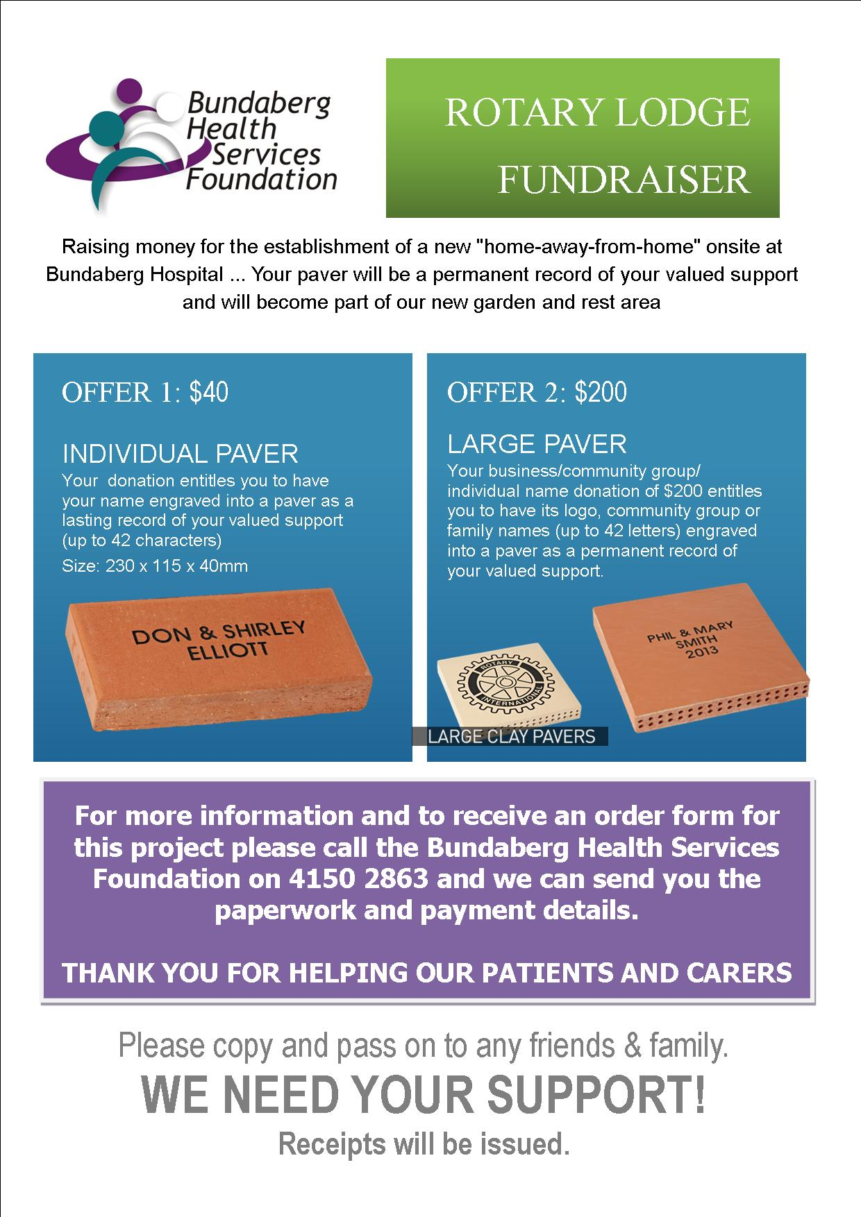 Paver fundraiser for new Lodge